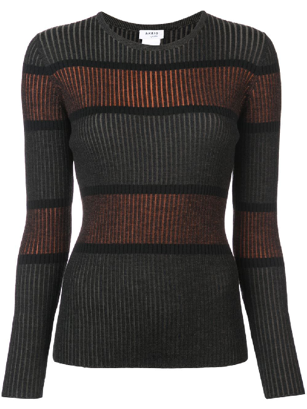 Akris Punto Ribbed Stripe Pullover