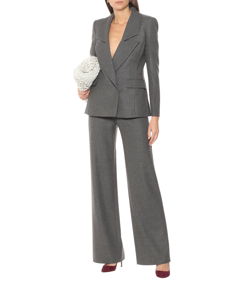 Altuzarra Stretch-Wool Jacket + High-Rise Flared Pant