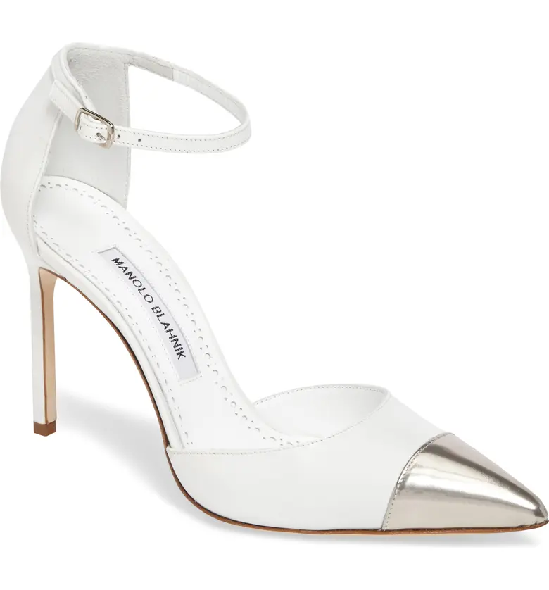 Manolo Blanhnik Cap Toe Pumps