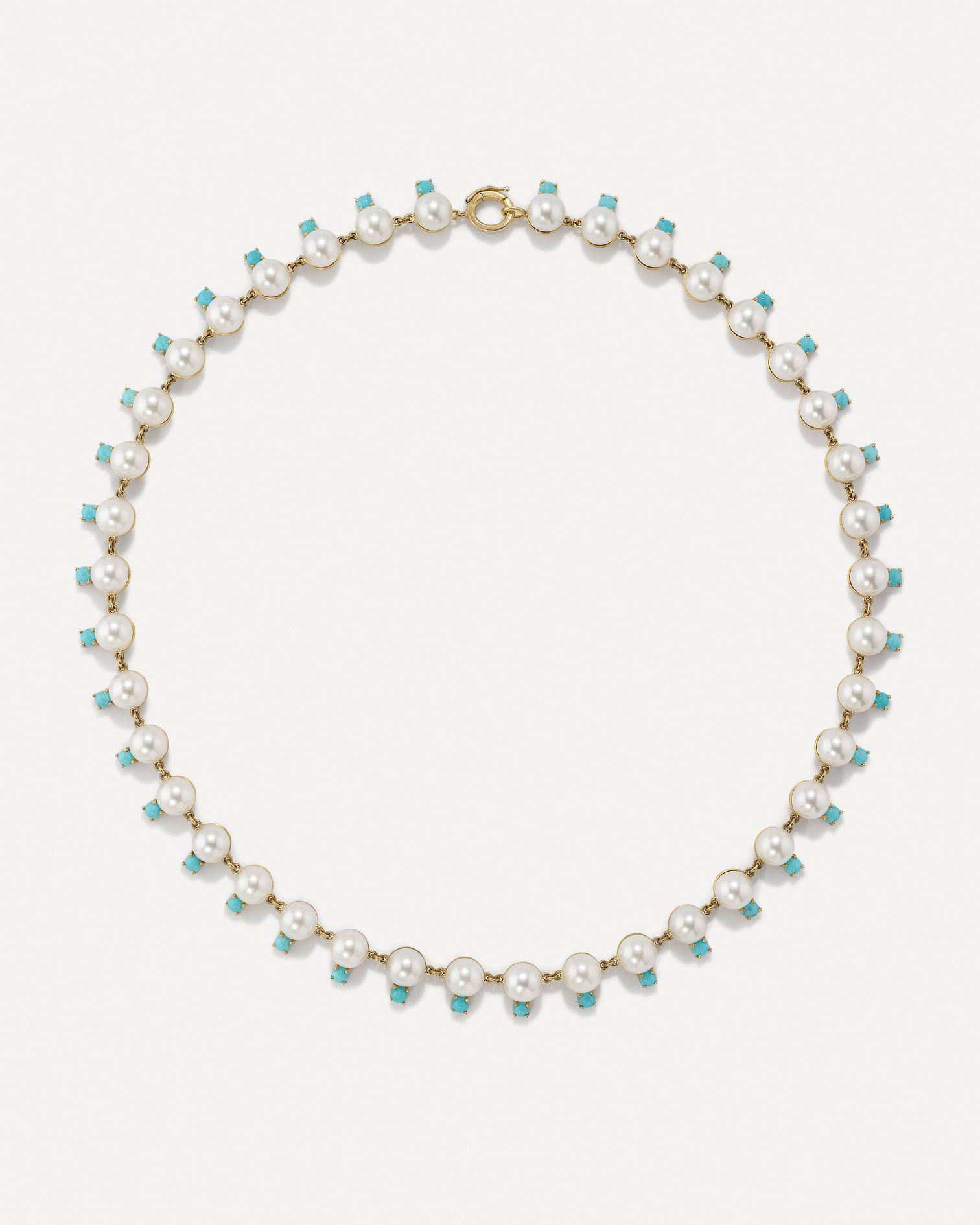 Irene Neuwirth Pearl and Turquoise Necklace