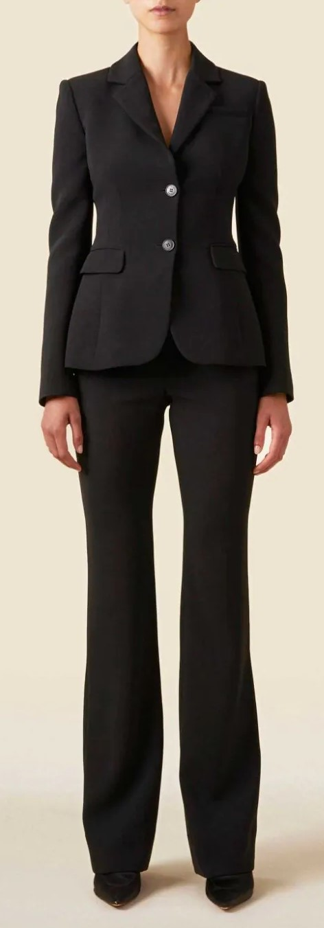 Altuzarra Single-Breasted Black Blazer + Pant