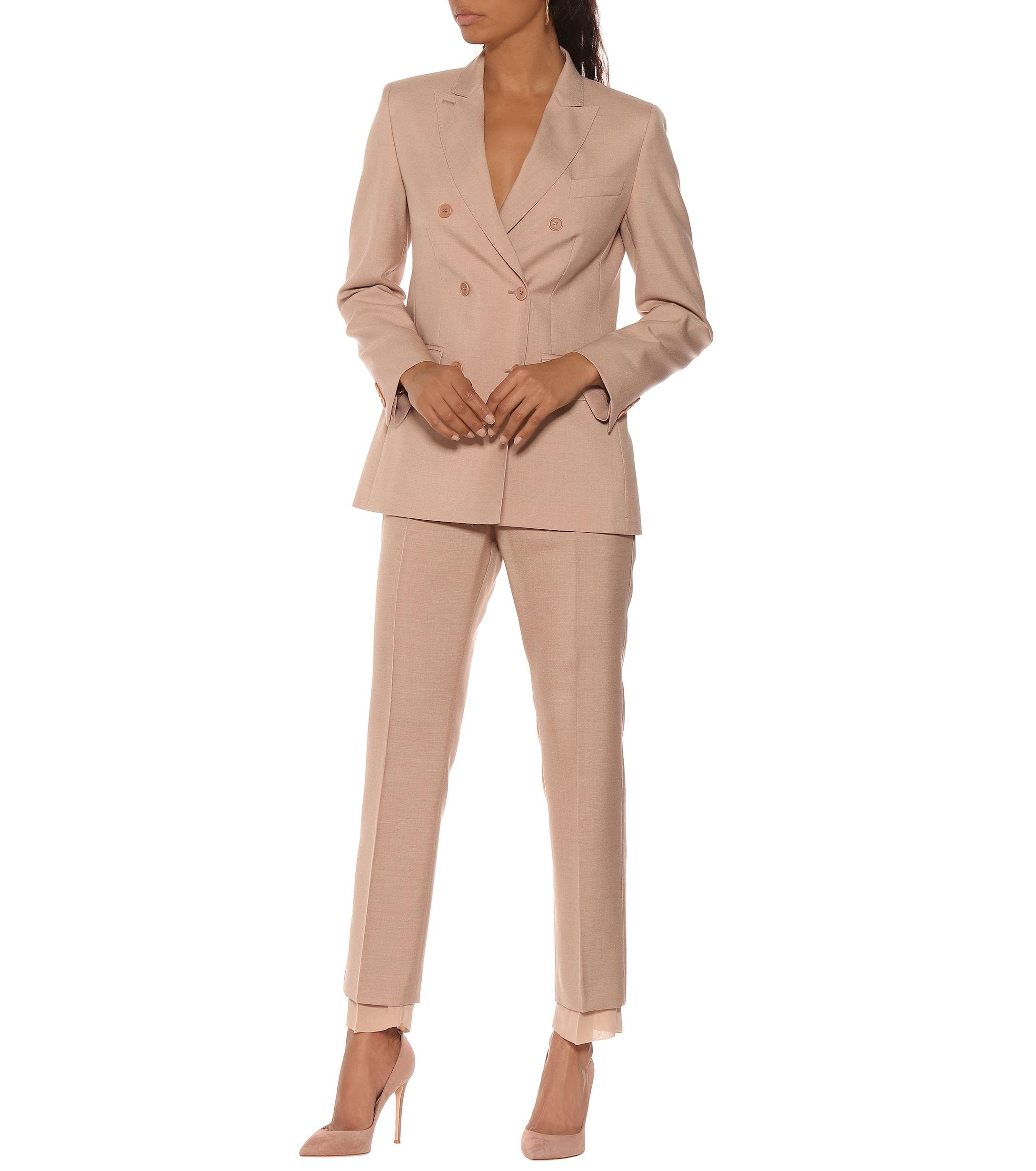 Max Mara Double-Breasted Blazer + Pants
