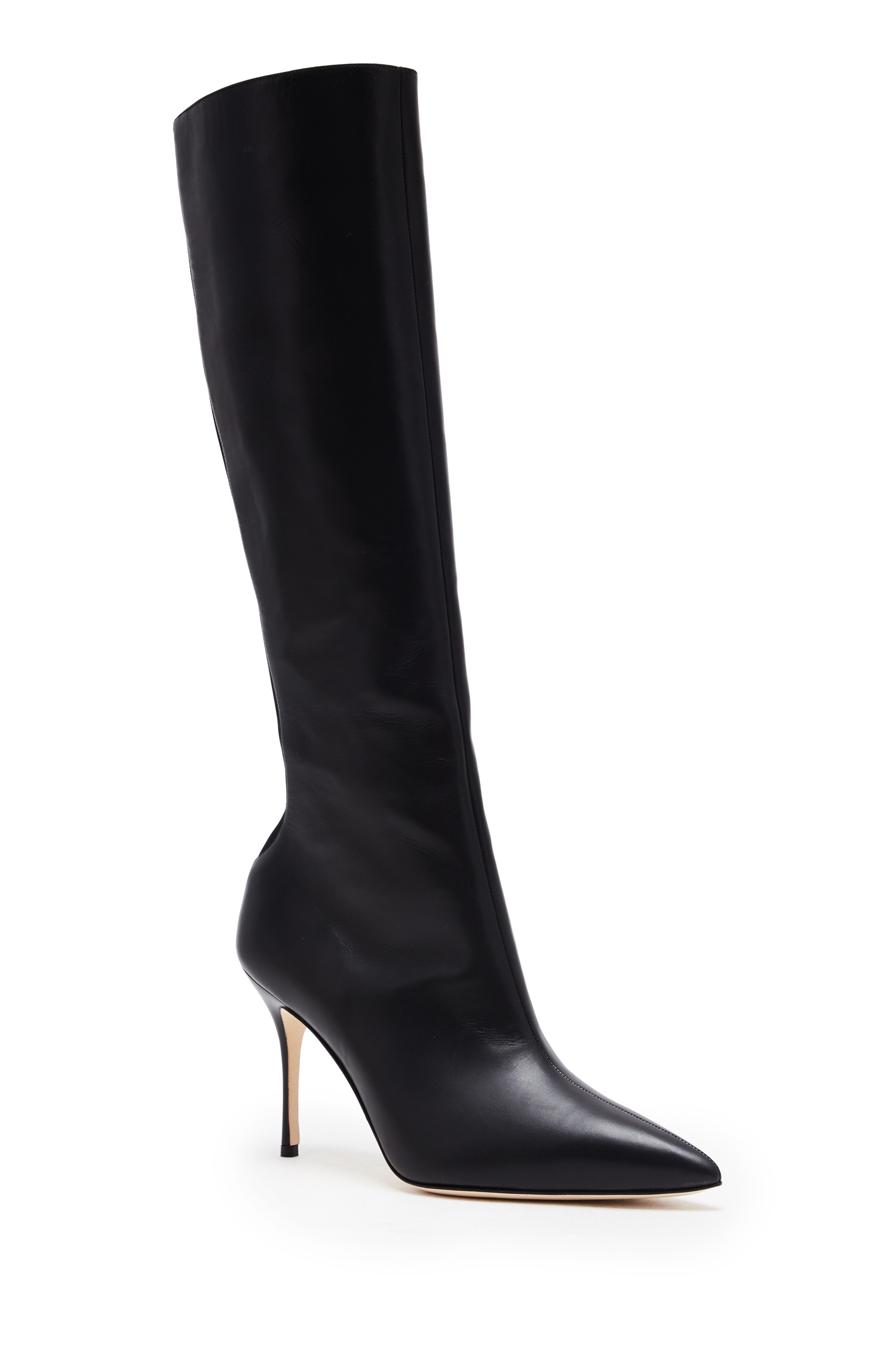 Manolo Blahnik  Clotobeck Leather Boots