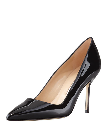 Manolo Blahnik BB Patent 90mm Pump