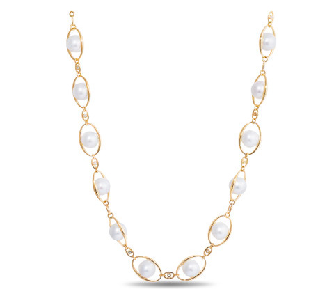 Wilfredo Rosado Custom Pearl and Diamond Necklace​