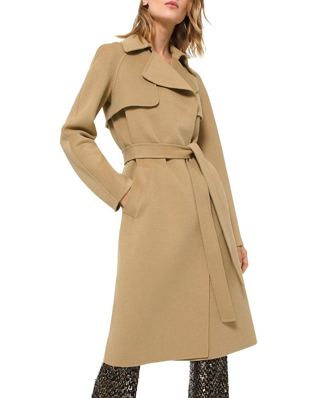 Michael Kors Collection Cashgora Blend Trench Coat