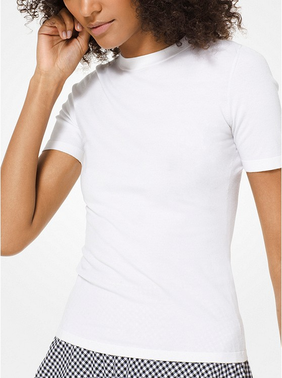 Michael Kors Collection Stretch-Viscose T-Shirt