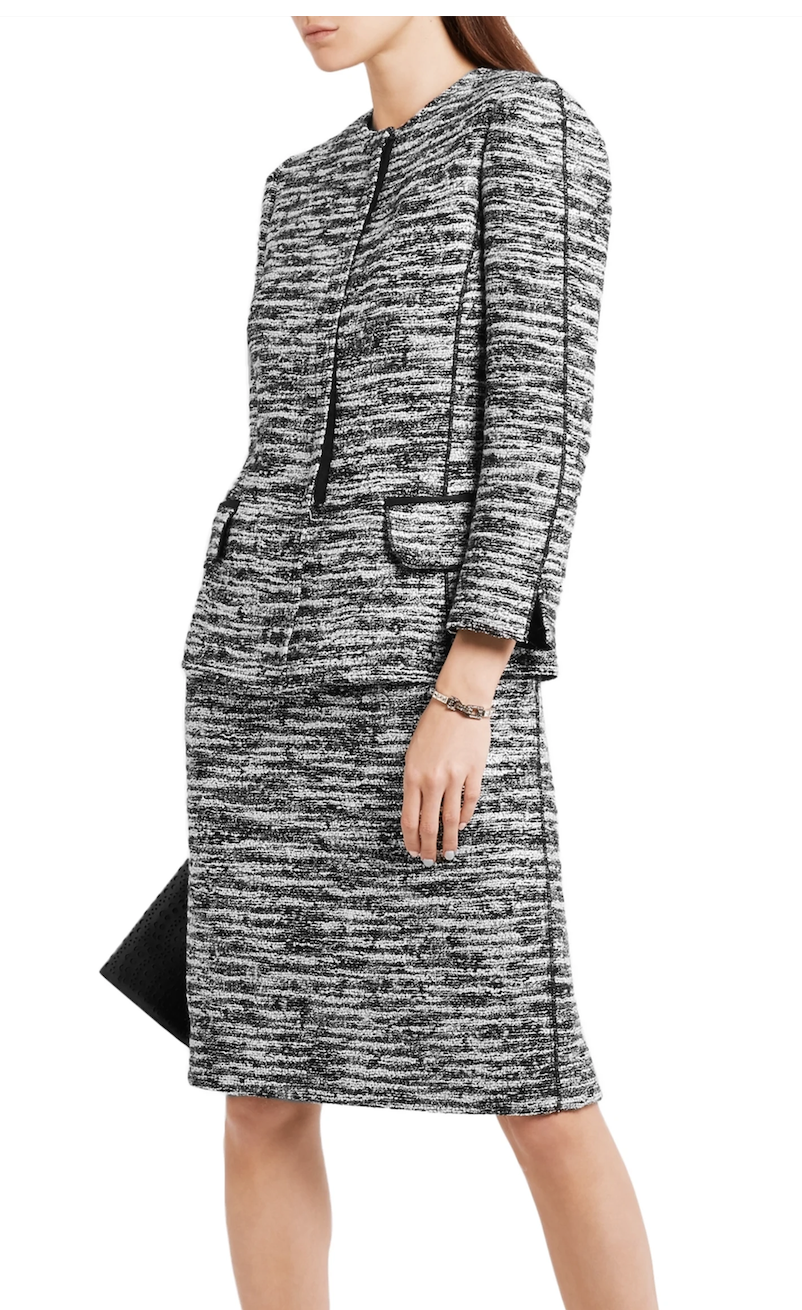 Oscar de la Renta Bouclé-Tweed Jacket and Skirt Set